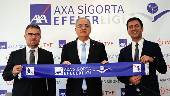 """AXA Sigorta """"Efeler Ligi""""nin isim resmi sponsoru oldu"""