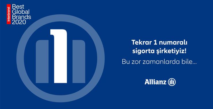 """Allianz """"En İyi Global Markalar"""" raporunda 1 numaralı sigorta markası seçildi"""