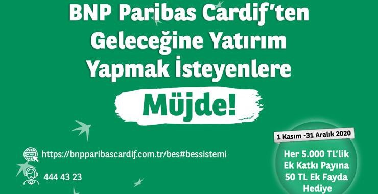 BNP Paribas Cardif'ten geleceğine yatırım yapmak isteyenlere ek katkı payı kampanyası