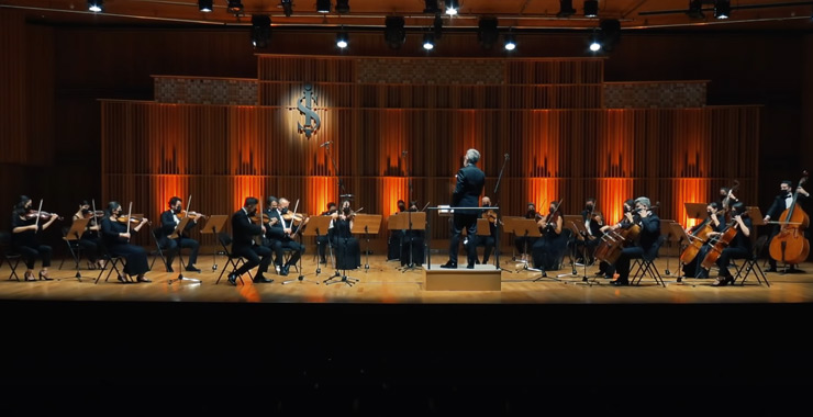 Milli Reasürans Oda Orkestrası'nın çevrimiçi konserini 145 bin müziksever dinledi