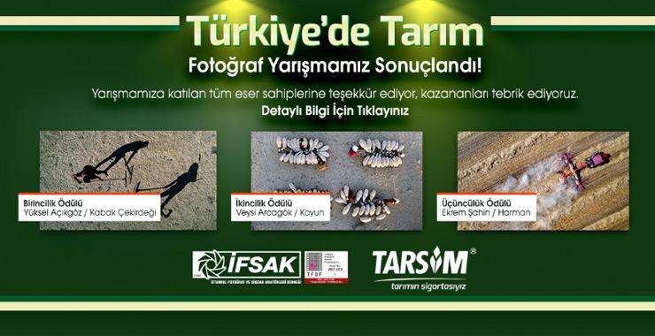 """TARSİM'in """"Türkiye'de Tarım"""" fotoğraf yarışması sonuçlandı"""