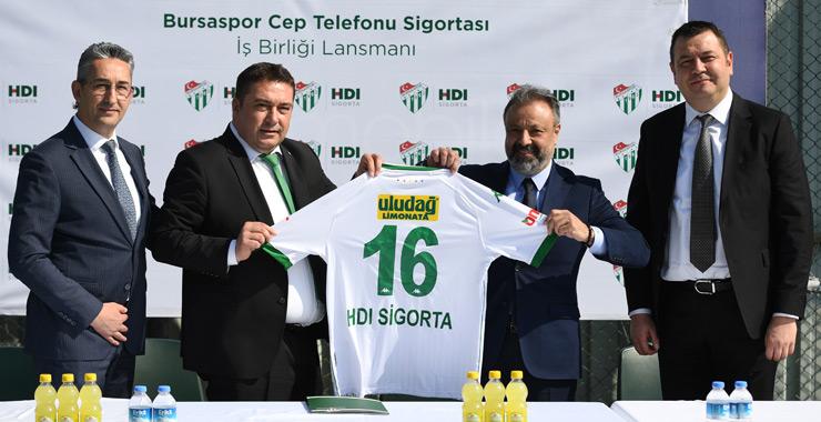 HDI Sigorta ve Bursaspor Cep Telefonu Sigortası'nda yeniden buluştu