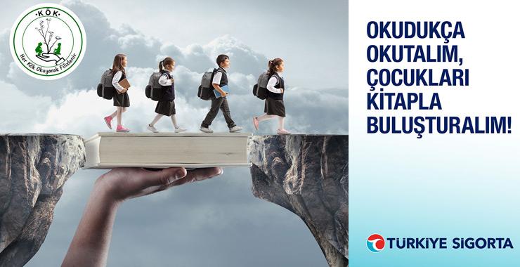 """Türkiye Sigorta'dan """"Okudukça okutalım, çocukları kitapla buluşturalım"""" projesi"""