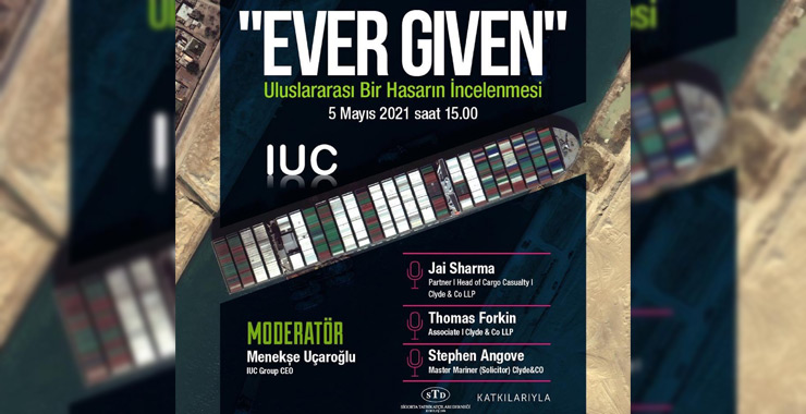 """IUC Group'tan """"Ever Given"""" online semineri"""