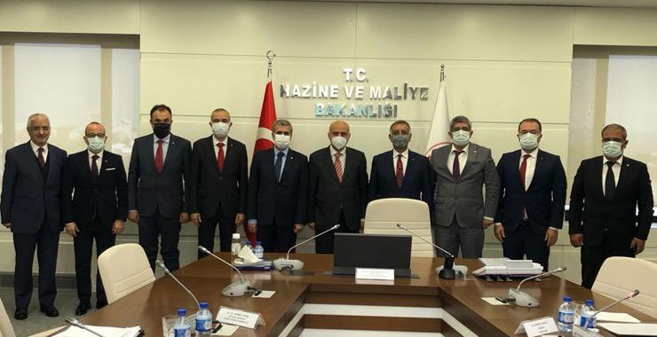 TOBB SAİK yönetimi mesafeli sözleşmeler yönetmeliğini Ankara'da görüştü