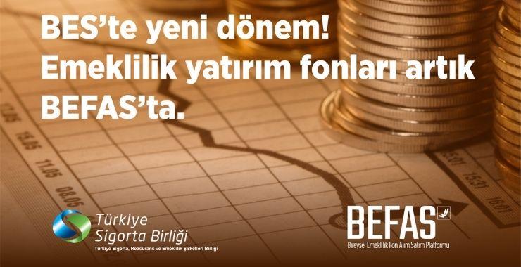 Emeklilik yatırım fonları BEFAS'ta hizmete sunuldu