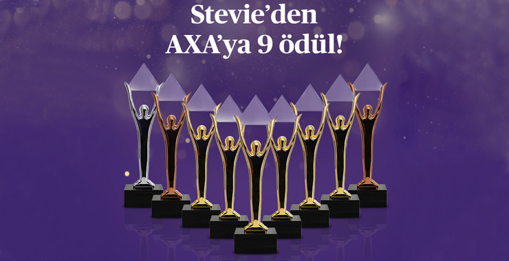 Axa Sigorta, 9 Stevie ödülüyle uluslararası iş dünyasında başarısını perçinledi