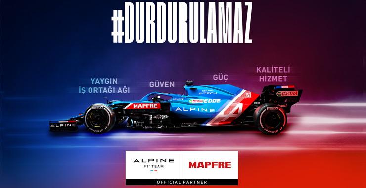 Mapfre'nin sponsoru olduğu Alpine F1 Takımı İstanbul için hazırlanıyor
